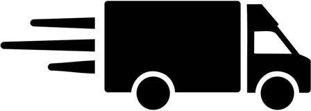 Symbol för leveransskåpbil royaltyfri illustrationer