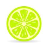 Symbol för limefruktskivavektor stock illustrationer