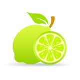 Symbol för limefruktskivavektor vektor illustrationer