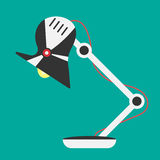 Symbol för ljus för skrivbordlampa Vektorkontorslampa Fotografering för Bildbyråer