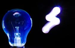 Symbol för ljus kula och elektricitets arkivbilder