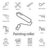 Symbol för målarfärgrulle Enkel beståndsdelillustration Design för symbol för målarfärgrulle från konstruktionssamlingsuppsättnin vektor illustrationer