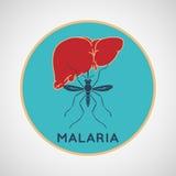 Symbol för MALARIAvektorlogo Arkivfoton