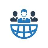 Symbol för man för global affär Arkivfoto