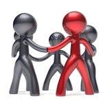 Symbol för man för ledarskap för cirkel för nätverk för teamworkfolk social stock illustrationer