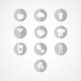Symbol för matrengöringsduk Royaltyfri Foto