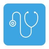 Symbol för medicinsk apparat för stetoskop stock illustrationer