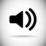 Symbol för megafon för solid volym för musik Arkivbilder