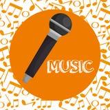 Symbol för mikrofonkonsertmusikal vektor illustrationer