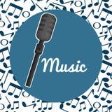 Symbol för mikrofonkonsertmusikal royaltyfri illustrationer