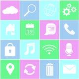 Symbol för mobil internet Arkivbilder