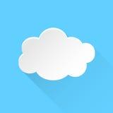 Symbol för molnhimmelvektor Moln med illustrati för skuggalägenhetvektor Arkivfoton
