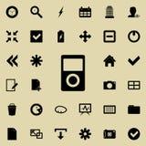 Symbol för musikspelare Detaljerad uppsättning av minimalistic symboler Högvärdig grafisk design En av samlingssymbolerna för web royaltyfri illustrationer