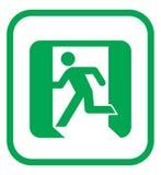 symbol för nödlägeutgång Arkivbild