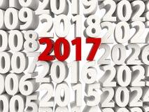 Symbol för nytt år 2017 överst av andra år Royaltyfri Bild
