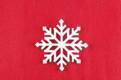 Symbol för nytt år; snöflinga Arkivfoto