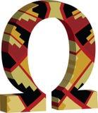 symbol för OMEGA 3d royaltyfri illustrationer