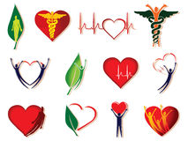 symbol för omsorgssamlingshälsa Arkivfoto