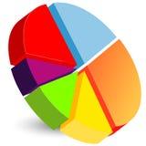 Symbol för pajdiagram Vektor Illustrationer