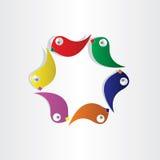 Symbol för papegojacirkelfåglar Arkivbilder