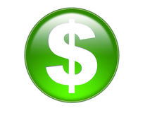 symbol för pengar för buttdollar glass Royaltyfria Foton