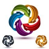 Symbol för pilabstrakt begreppögla, vektorconcetpictogram Royaltyfri Bild
