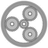 Symbol för planetariskt kugghjul stock illustrationer