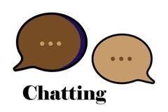 Symbol för pratstundmeddelandeuppsättning Arkivbild