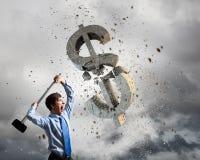 symbol för procentsats för pengar för bankrörelsebegreppshänder Fotografering för Bildbyråer