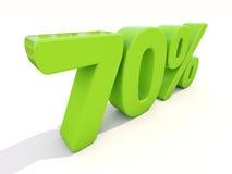 symbol för 70% procentsatshastighet på en vit bakgrund Royaltyfria Foton