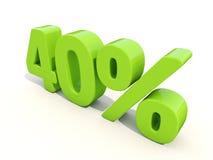 symbol för 40% procentsatshastighet på en vit bakgrund Arkivbilder