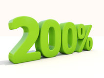 symbol för 200% procentsatshastighet på en vit bakgrund Arkivbild