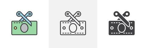 Symbol f?r r?kning f?r saxklipppengar stock illustrationer