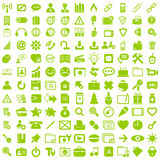 Symbol för rengöringsduk för tecken för affärsuppsättningknapp Royaltyfria Bilder