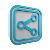 symbol för share 3d stock illustrationer