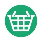 Symbol för shoppingkorg stock illustrationer