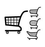Symbol för shoppingvagn. Arkivfoto