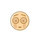 Symbol för sinnesrörelse för folk för ledsen tecknad filmframsida chockad negativ Arkivbild