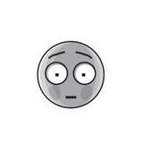 Symbol för sinnesrörelse för folk för ledsen tecknad filmframsida chockad negativ Arkivfoton