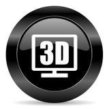 symbol för skärm 3d Royaltyfri Foto