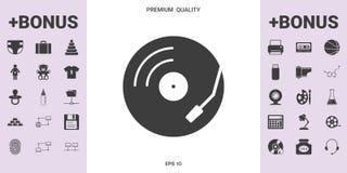 Symbol för skivtallrik för vinylrekord - grafiska beståndsdelar för din design royaltyfri foto