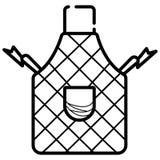 Symbol för skyddande plagg för kökförkläde plan för apps och websites vektor illustrationer