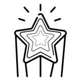 Symbol för skyttestjärna royaltyfri illustrationer