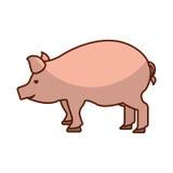 symbol för slakt för grisköttkött vektor illustrationer