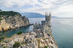 Symbol för slott för rede för svala` s av Krim royaltyfri foto