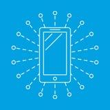 Symbol för socialt massmedia för telefon enkel royaltyfri illustrationer