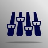 Symbol för solid våg för musik Royaltyfria Bilder