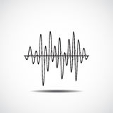Symbol för solid våg Uppsättning för musiksoundwavesymboler Kvittera ljudsignal och s vektor illustrationer