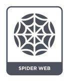 symbol för spindelrengöringsduk i moderiktig designstil symbol för spindelrengöringsduk som isoleras på vit bakgrund modern symbo stock illustrationer