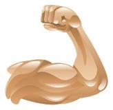 Symbol för stark arm Arkivfoto